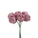 wholesale Artificial Flowers: Rose Foam, 6 pieces in a bunch, D6cm, total 24cm,